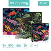 Mudpuppy, Puzzle rodzinne świecące w ciemności Ocean 500 elementów 8+