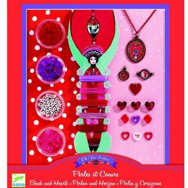 Djeco, zestaw do tworzenia biżuterii Perły i serduszka