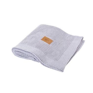 Poofi, tkany kocyk z bawełny organicznej 75x90cm - Szary