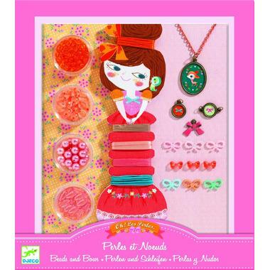Djeco, zestaw do tworzenia biżuterii Perły i kokardki