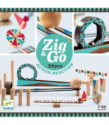 Djeco, Zestaw Zig & Go 28 elementów