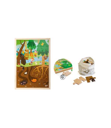 Apli Kids, Drewniane puzzle w ramce -...