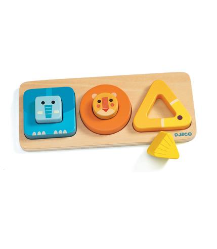 Djeco, Drewniana układanka puzzle...