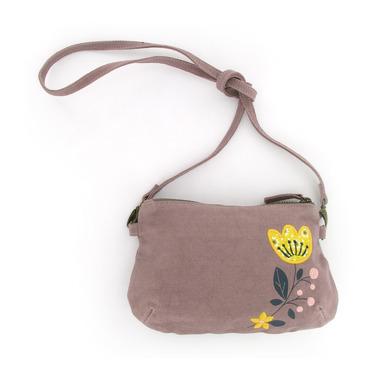 Lawendowa torebka z kwiatkiem