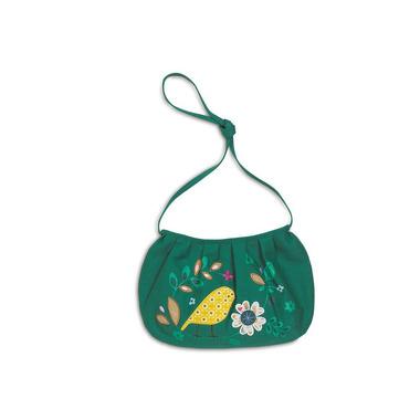 Zielona torebka z ptaszkiem
