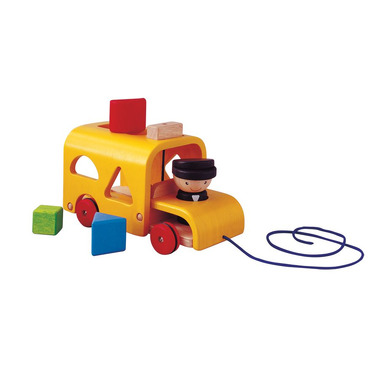 Autobus z klockami do wrzucania, Plan Toys