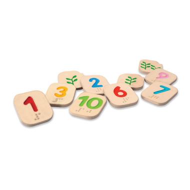 Cyferki Braile 1-10, Plan Toys