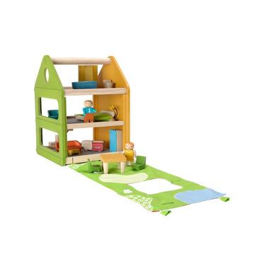 Domek dla lalek z matą do zabawy, Plan Toys
