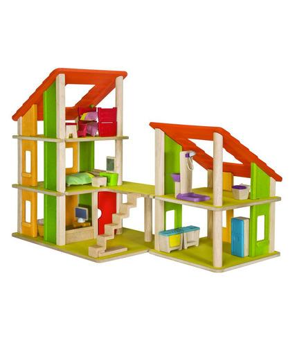 Nowoczesny domek dla lalek z mebelkami, Plan Toys
