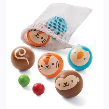 Drewniana gra w boule petanque Plan Toys