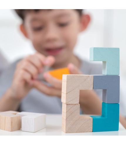 Plan Toys, Mini Puzzle w Metalowym...