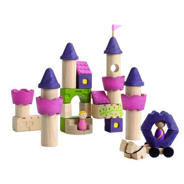 Drewniane klocki Zamek księżniczki, Plan Toys
