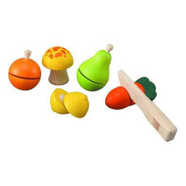 Drewniane warzywa i owoce do krojenia, Plan Toys