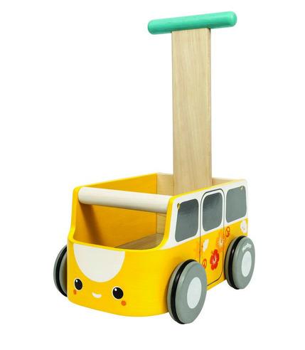 Drewniany chodzik żółty van, Plan Toys