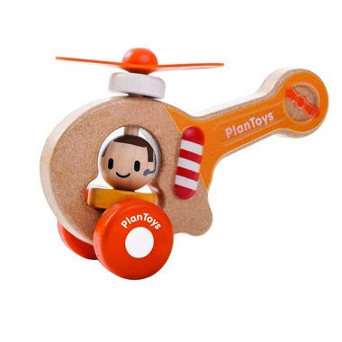 Drewniany helikopter strażacki, Plan Toys