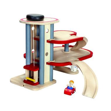 Drewniany piętrowy parking, Plan Toys