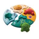 Drewniane puzzle zwierzęta morskie, Plan Toys