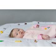 Śpiworek do spania z metkami Snoozebaby (0-3) - różowy
