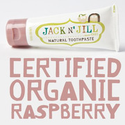 Jack N'Jill, Naturalna Pasta do zębów, organiczna malina i Xylitol, 50g