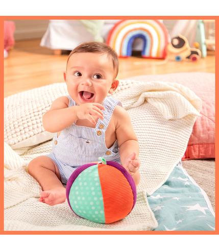 B Toys, Pluszowa piłka sensoryczna z...