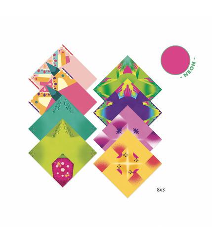 Djeco, Origami TROPIKI (neonowe)