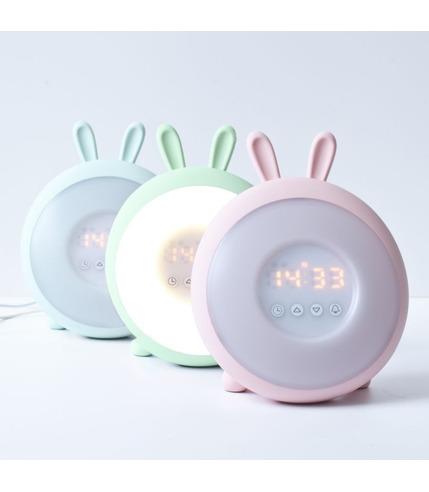 Lampka budząca światłem różowy królik