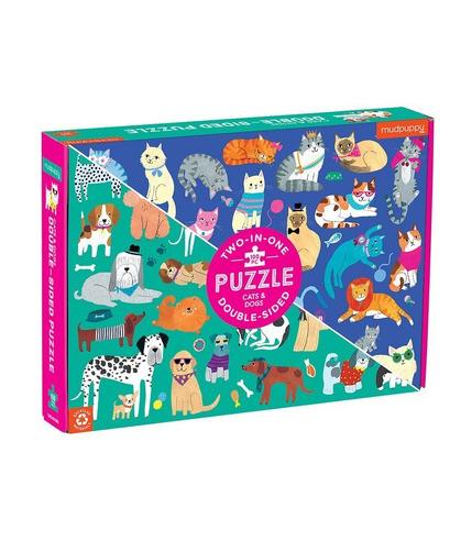Mudpuppy, Puzzle dwustronne Koty i...