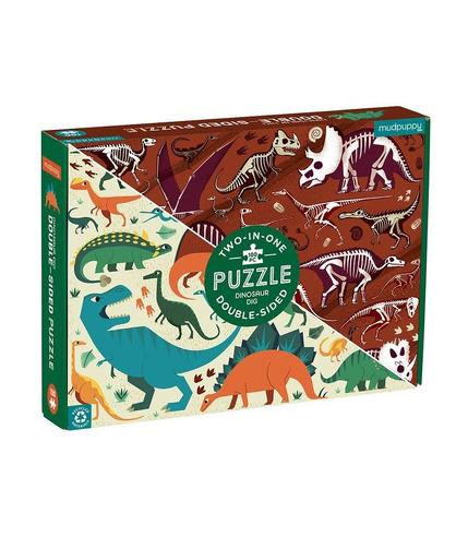 Mudpuppy, Puzzle dwustronne Dinozaury...