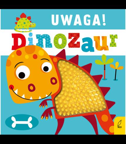 Uwaga dinozaur książeczka sensoryczna