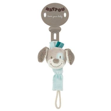 Pies Cyril zawieszka na smoczek Nattou