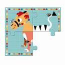 Zestaw 4 puzzli - Zabawne Zwierzątka Djeco