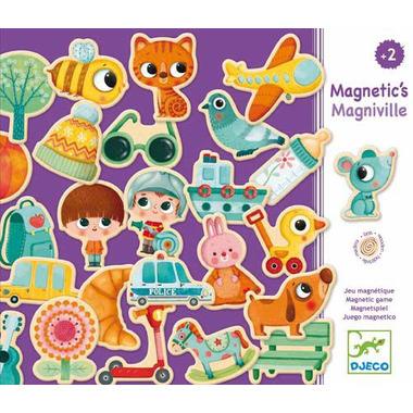 Djeco, Drewniana układanka magnetyczna MAGNIVILLE