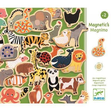 Djeco, drewniana układanka magnetyczna Zwierzątka MAGNIMO