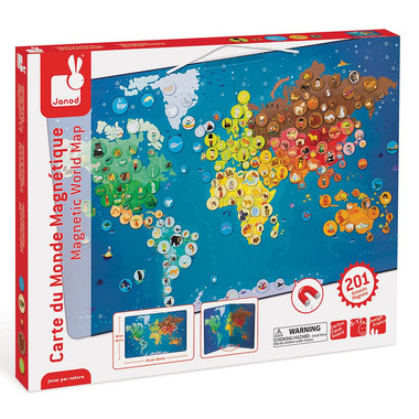 Janod, magnetyczna mapa zwierzęta świata