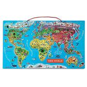 Janod, puzzle magnetyczne mapa świata
