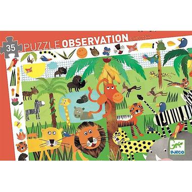 Djeco, Puzzle - Dżungla 35 el.