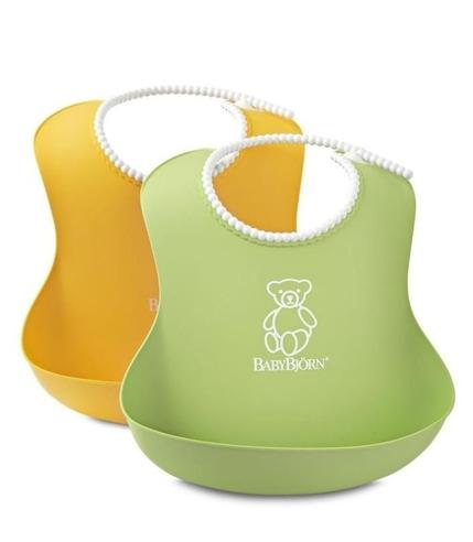 2 śliniaki - zielony / żółty BabyBjorn