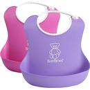 2 śliniaki - różowy / fioletowy BabyBjorn