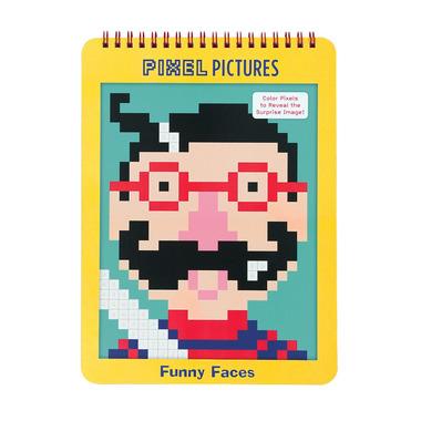 Kolorowanka pixele - Śmieszne buźki, MUDPUPPY