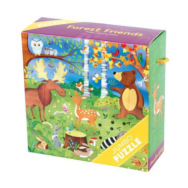 Puzzle JUMBO - 25 elementów Leśne zwierzęta, MUDPUPPY