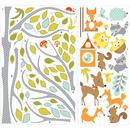 Naklejki wielokrotnego użytku - Leśne drzewo