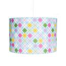 Lampa wisząca Niebieska Kratka Lamps&Co
