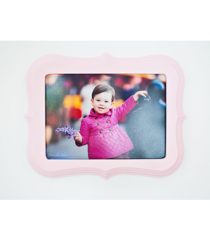 Ramka do zdjęć różowa 15x21 cm Lamps&Co