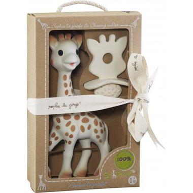 Zestaw So'Pure Żyrafa Sophie wraz z gryzakiem z żywicy kauczukowca