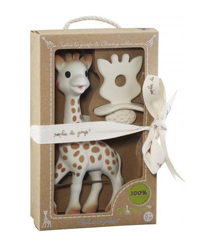 Zestaw So'Pure Żyrafa Sophie plus gryzak z żywicy kauczukowca