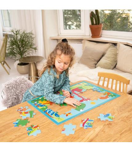 Scratch, Puzzle Dino 40 szt.