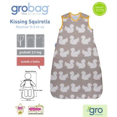 Śpiworek Grobag Kissing Squirells - grubość 2,5 tog 18-36 m