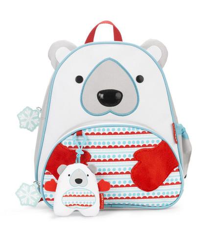 Plecak Zoo Winter Miś Polar z zawieszką