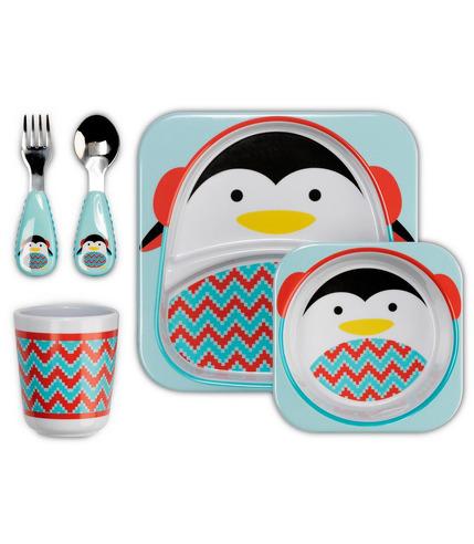 Zestaw jedzeniowy Zoo Winter Pingwin