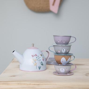 Little Dutch, Zestaw metalowy Tea set Adventure